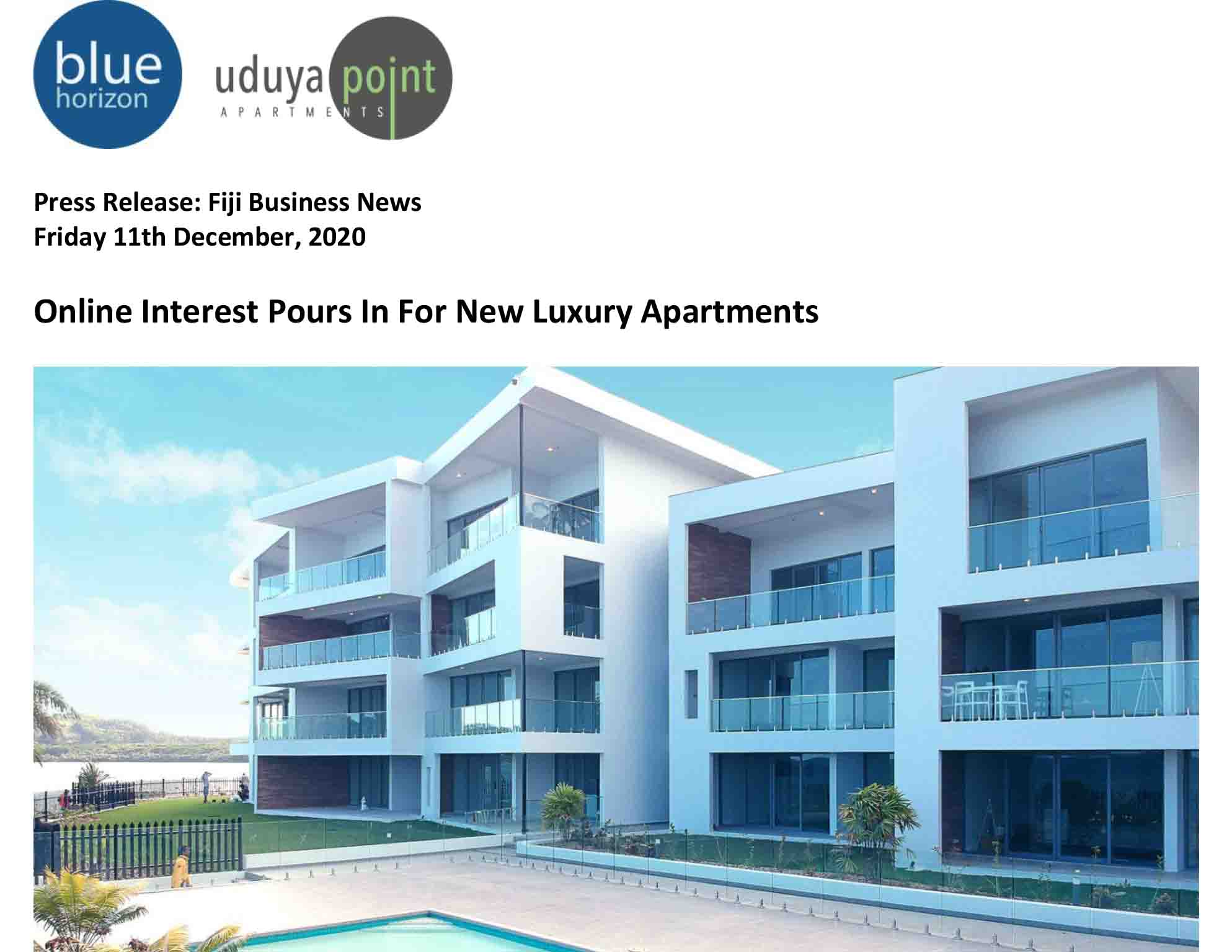 UPA Press Release 1.A Distinguised Oceanfront Address-1
